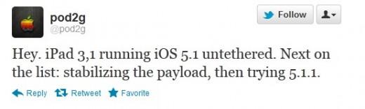 Pod2g: iPad 3 untethered Jailbreak mit iOS 5.1 erfolgreich, iOS 5.1.1 in Arbeit