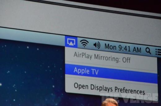 Mac OS X 10.8 Mountain Lion mit AirPlay Mirroring