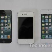 iPhone 5: Neues, realistisches Mockup auf Basis der Schemazeichnung (iPhone 4S in der Mitte)