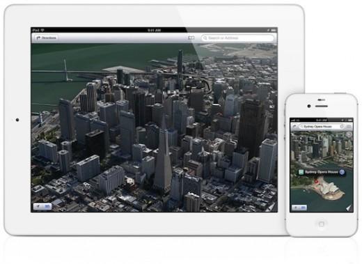 "Apple Maps ""Flyover"" für iPhone 4"