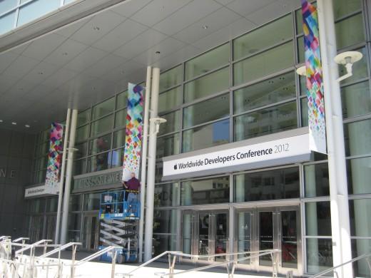 Vorbereitungen zur WWDC 2012 (Foto: 9to5Mac)