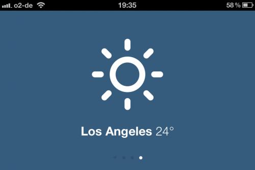 Sun - Wetter unter iOS: Simple Web-App