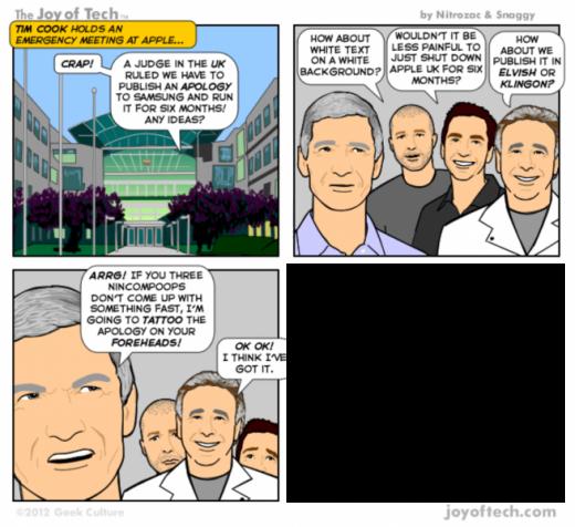 Comic: Wie Apples Samsung-Ankündigung aussehen könnte [Patente]