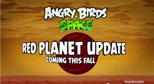 Angry Birds Space: Red Planet via Trailer offiziell angekündigt