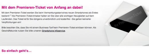 Apple iPhone 5: Neues Premieren-Ticket der Telekom
