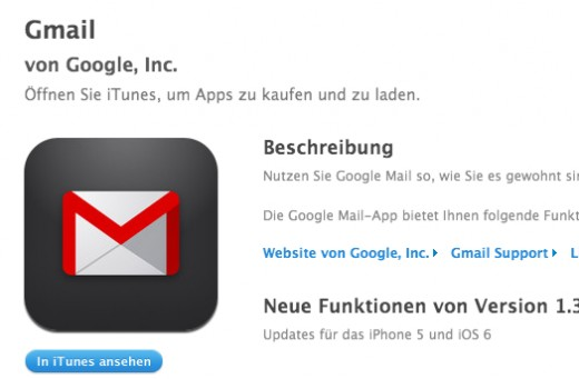iPhone 5: Gmail-App bekommt Update spendiert