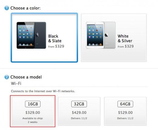 iPad mini: 16 GB-Version in 35 Stunden ausverkauft