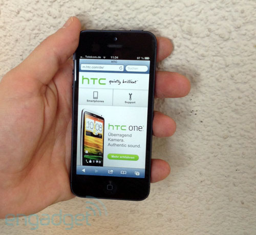 iPhone 5 vs. HTC: Informationsminister pusht Apple, HTC verdutzt