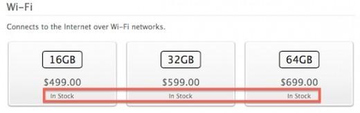 iPad 4 in einigen Online Apple Stores wieder auf Lager