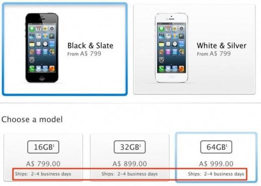 """iPhone 5: Lieferzeit bei """"2 bis 4 Werktagen"""""""