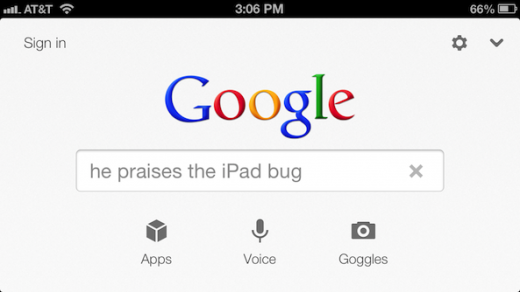 "Google bewirbt iPad: ""...he now praises the iPad"""
