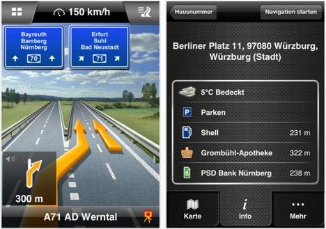 Navigon 2.4: Kartenverbesserungen & Integration von Glympse und Foursquare