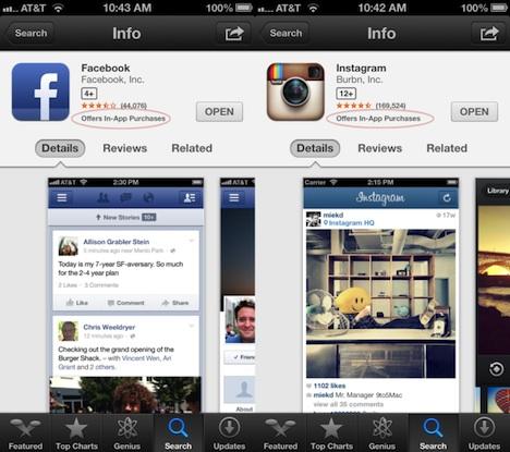 """App Store Bug: Apps fälschlicherweise mit """"In-App-Käufen"""" gekennzeichnet"""