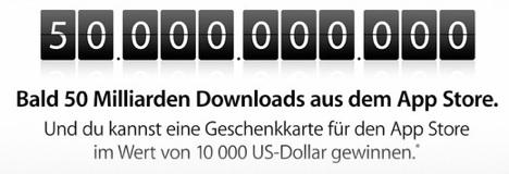 App Store: Countdown zu 50 Milliarden Downloads