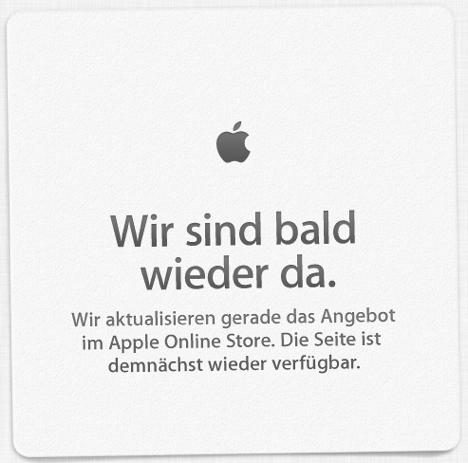 Apple Store nicht erreichbar - Wartungsarbeiten oder neue Produkte?