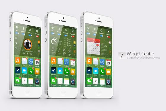 iOS 7 Konzept - Neues Aussehen für den Homescreen