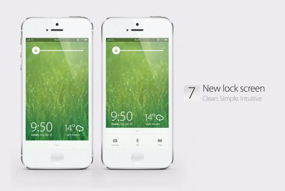 iOS 7 Konzept - Lockscreen Konzept