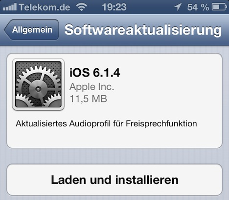 iPhone 5 Update: iOS 6.1.4 ab sofort zum Download