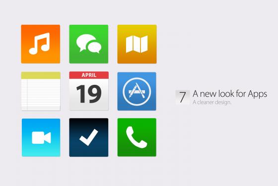 iOS 7 Konzept - Cleaner Look für Apps
