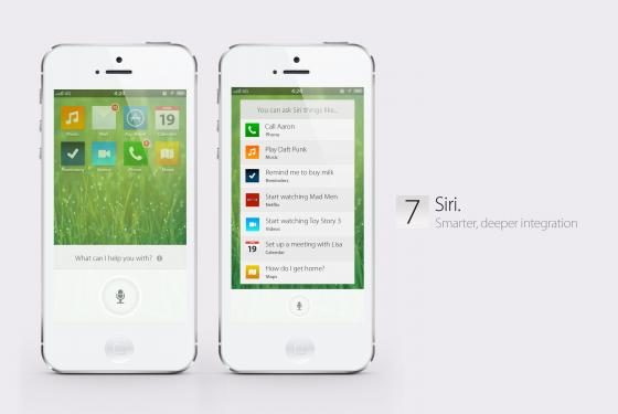 iOS 7 Konzept - Neuer Look für Siri