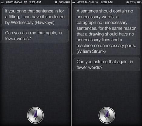 iPhone 4S & iPhone 5: Siri antwortet mit Zitaten