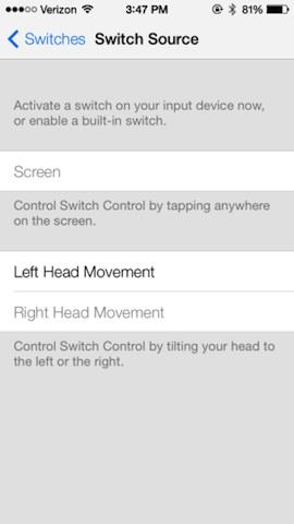 iOS 7 unterstützt Kopfbewegungen zur Menü-Bedienung