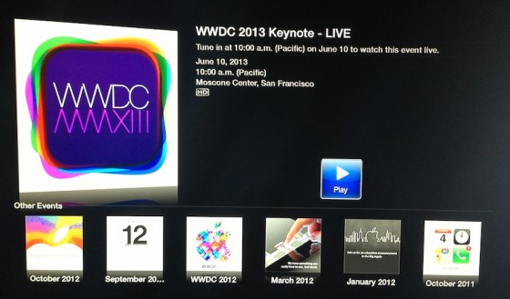 WWDC 2013 Apple Live Stream