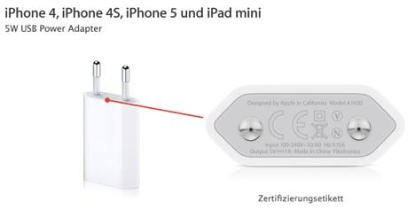 iPhone 5 & iPad mini: Rücknahmeaktion für USB-Netzteile nun auch in Deutschland