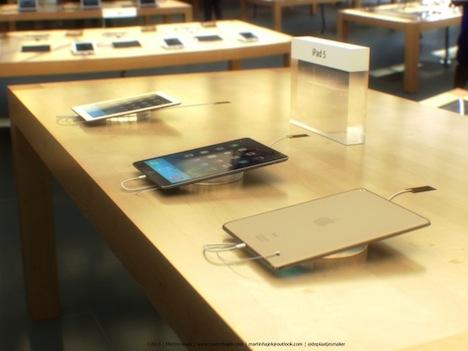 iPad 5 im Apple Store: Konzept zeigt Tablet