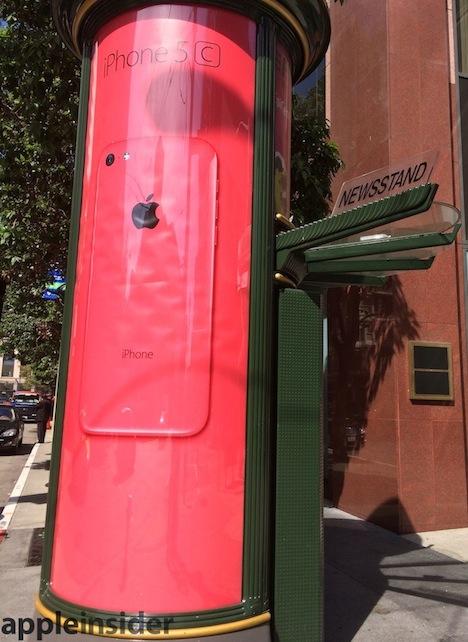 iPhone 5C: Plakatwerbung von Apple gestartet