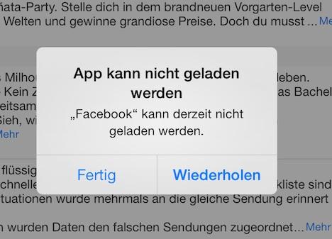 Facebook 6.7.1: Update macht Probleme, Neuinstallation behebt sie