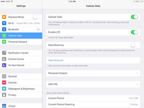 iPad Air HotSpot: Akkulauftzeit bei 24 Stunden