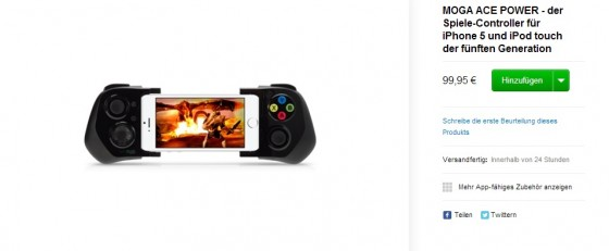 iPhone-Controller Logitech PowerShell & Moga Ace Power im Apple Online Store erhältlich