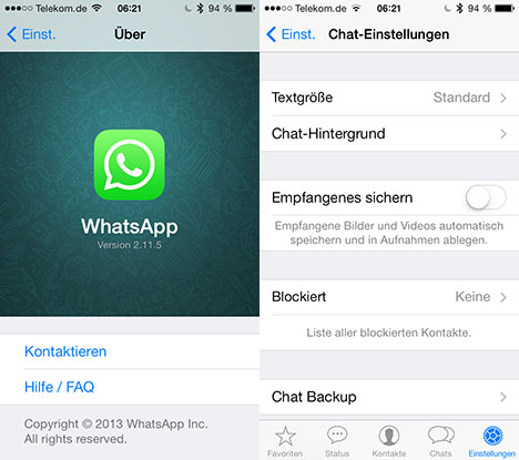 WhatsApp-Update beseitigt Probleme mit iOS 4 und iOS 5
