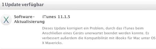 iTunes 11.1.5: Update bringt Bugfixes und mehr