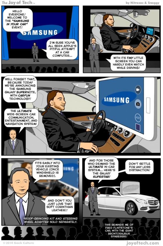 Samsung CarPlay: Comic veralbert mögliche Apple-Alternative