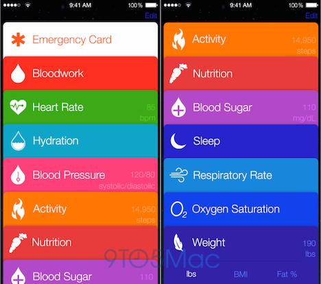 iOS 8: Healthbook-Konzept im Video zu sehen