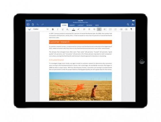Office für iPad offiziell veröffentlicht
