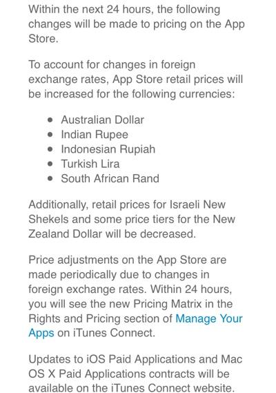 Apple App Store: Preisanpassungen in mehreren Ländern