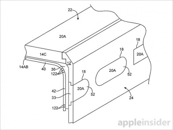 Patent zeigt seitliche Display-Erweiterung für iPhone