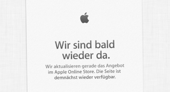 Apple Online Store Wartungsarbeiten: Kommt jetzt der iMac 2014?