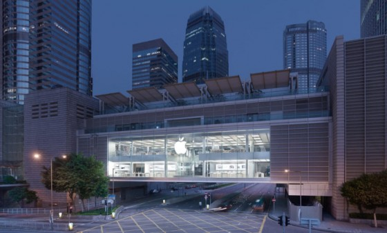IFC Hong Kong Apple store facade