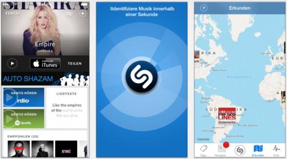 """Shazam """"powered by Rdio"""": Update erlaubt Abspielen ganzer Songs"""