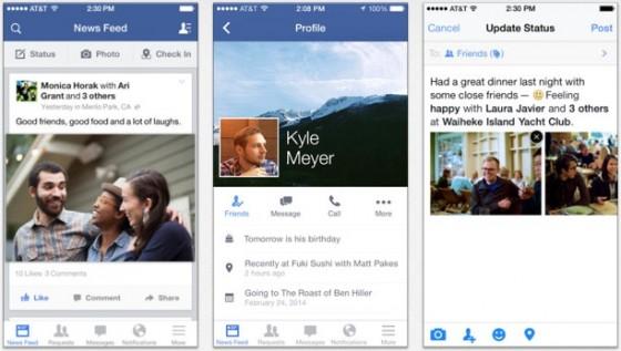 Facebook-Applikation soll Updates im 4-Wochen-Rhythmus erhalten
