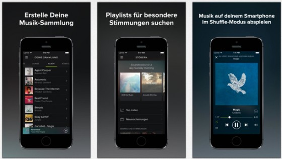 Spotify 1.6: Finnische Sprachunterstützung, Update bei Alben