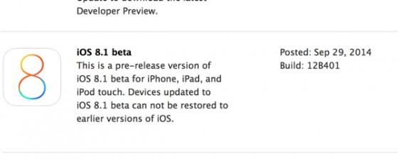 iOS 8.1 Beta 1 steht bereit: Apple Pay, Touch ID für iPad und mehr