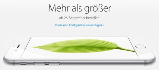 iPhone 6: Vorbestellung in Österreich, Schweiz & Co. ab 26. September