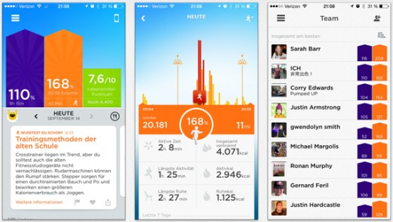 "iPhone 6 (Plus): Apple Health App ""Up by Jawbone"" nun auch ohne Armband"