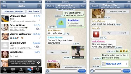 WhatsApp 2.11.9: Kompatibilität mit iOS 8 und großes Updates