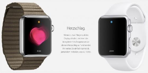 Apple Watch: Deutsche Webseite mit neuen Infos und Animationen